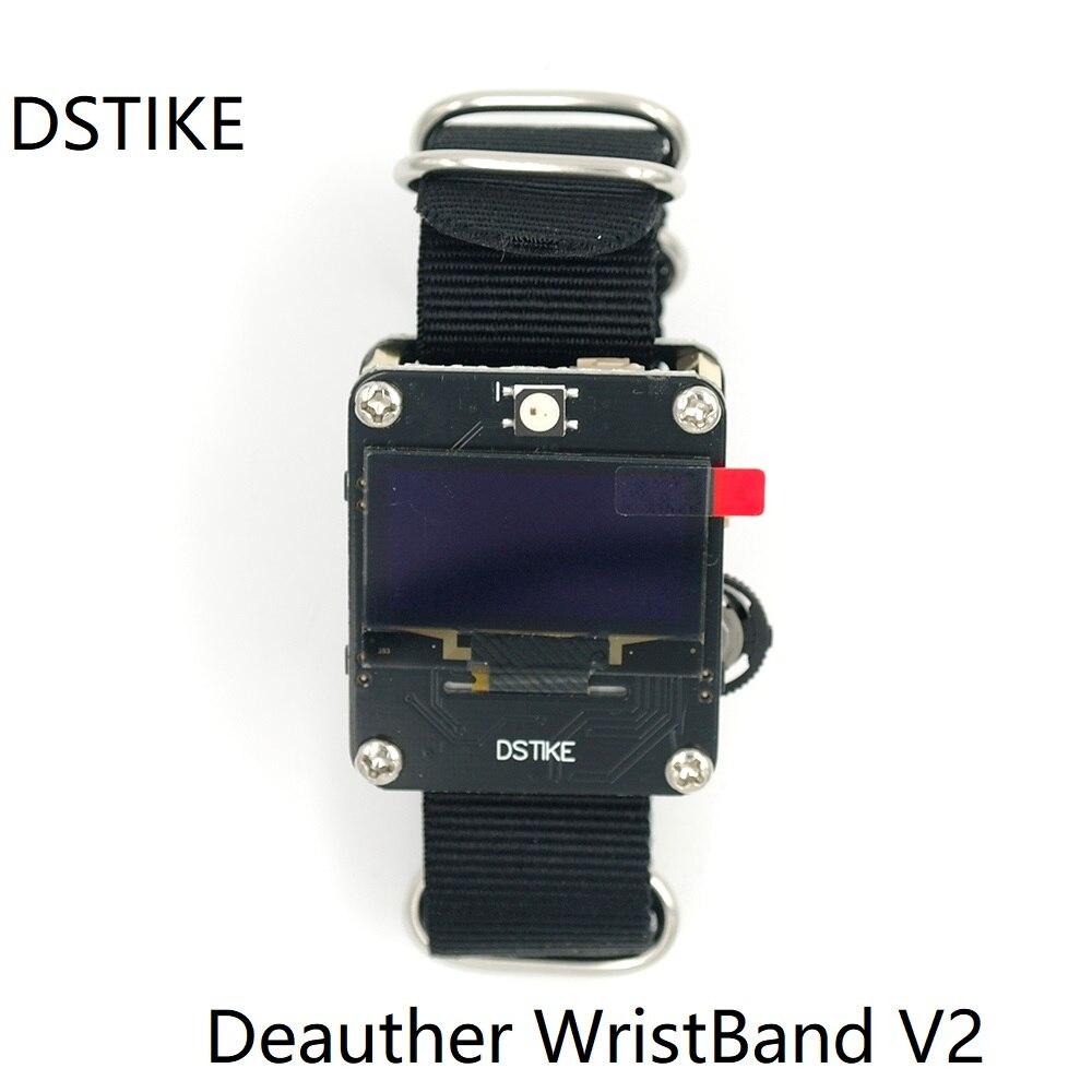 DSTIKE Wi-Fi Deauther смарт-браслет V2 ESP8266 oled-часы Для мужчин Батарея антенна с зарядным устройством случае Беспроводной радиомонитор ESP32 цифровой