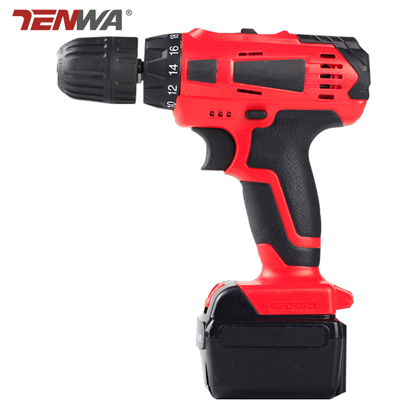 TENWA 21V Multi-function Electric Screwdriver Household Cordless Charging Electric Drill Rechargeable Lithium Battery  цены