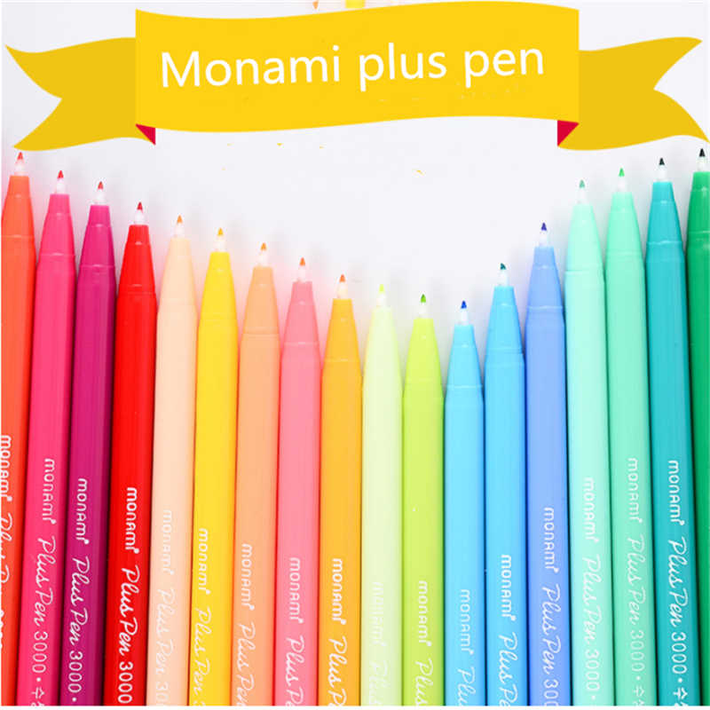 36PCS Gel Pens Monami Plus Pens Glitter Pen Korean Stationery Pens Gift Office Material School Supplies Painting