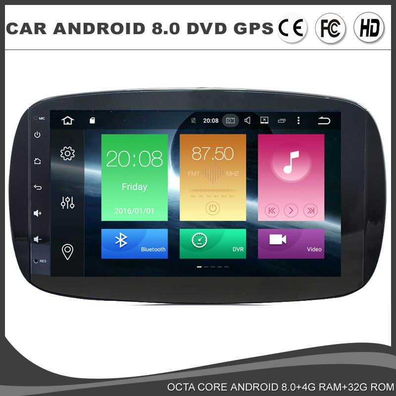 "9 ""completamente táctil pantalla Android 8,0 coche DVD GPS estéreo para Mercedes Benz Smart 2015 Radio SD Octa Core 4G RAM Navi USB AUX tics OBD"