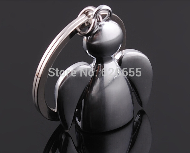 Gratis verzending 100 stks/partij Festival Gift Metalen Sleutelhangers Key Ring Angel Sleutelhangers wedding gift-in Feest bedankjes van Huis & Tuin op  Groep 3