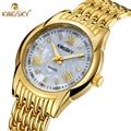 2016 New Women Casual Quartz Watch Women Fashion Gold Wrist watch Roman Numerals Display Luxury Brand KINGSKY Ladies Clock 2016