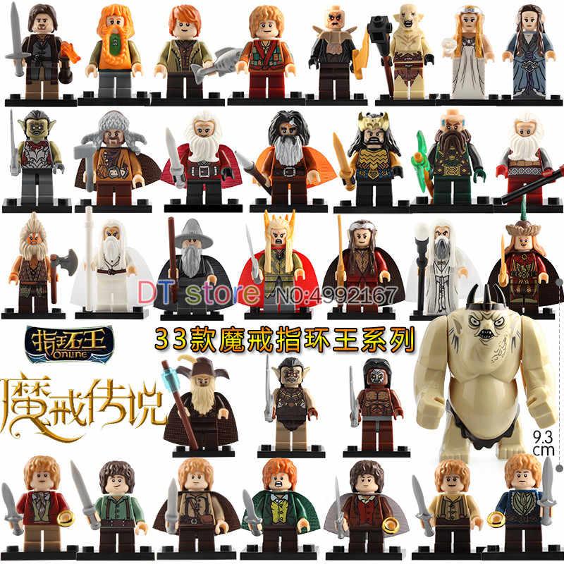 Solo de El Señor de los anillos de la serie rey duende samsagaz Gamyi Gandalf cifras bloques de construcción para niños juguetes BR196