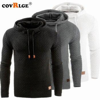 Covrlge Hoodies Men Male Long Sleeve Solid Color Hooded Sweatshirt Mens Hoodie Tracksuit Sweat Coat Casual Sportswear MWW147