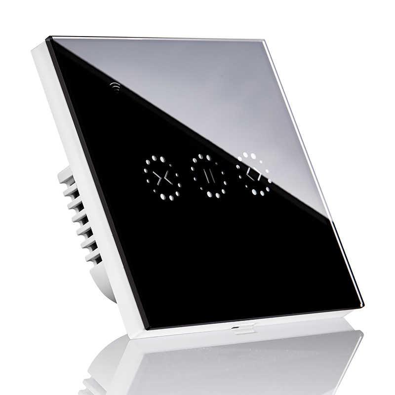 Smart WIFI Rumah Listrik Sentuh Blinds Tirai Switch Ewelink Aplikasi Kontrol Suara Oleh Alexa Echo untuk Batas Mekanis Tirai Motor