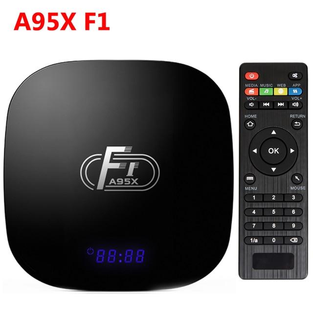 A95X F1 Android 7.1 TV Box Thông Minh TV BOX 2 GB RAM 16 GB ROM Amlogic S905W/2.4G WIFI/100 Mbps/4 K H.265 Phương Tiện Truyền Thông Máy Nghe Nhạc PK X96 X92