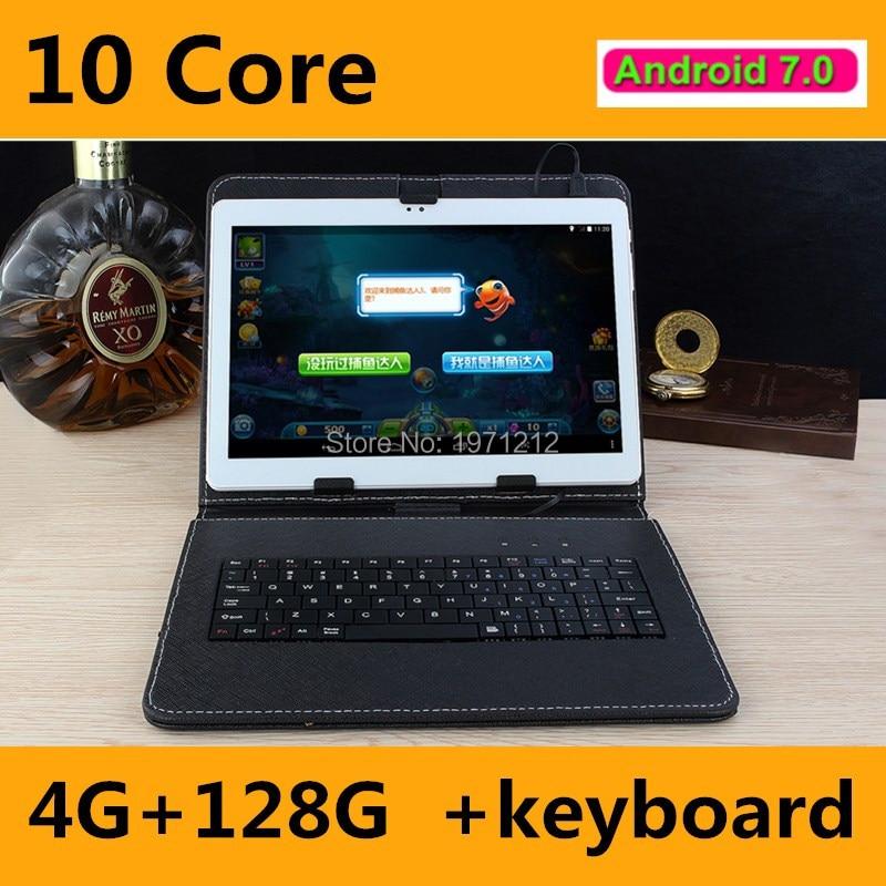 10 인치 안드로이드 7.0 정제 데카 코어 10 ''태블릿 PC 4 기가바이트 RAM 128 ROM 1920*1200 메가 픽셀 와이파이 GPS 3 그램 4 그램 LTE 정제 DHL 무료 배송