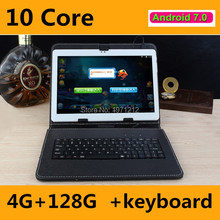 "10 pulgadas Tabletas Android 7.0 Deca Núcleo 10 ""Tablet PC 4 GB RAM 128 ROM 1920*1200 8MP WIFI GPS 3G 4G LTE tablets DHL envío libre"