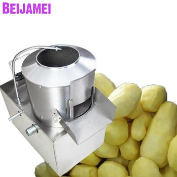 BEIJAMEI 240 kg h handlowa maszyna do obierania ziemniaków ze stali nierdzewnej elektryczny przemysłowy maszyna do obierania ziemniaków tanie i dobre opinie STAINLESS STEEL 220 v 750w potato peeling machine BJM-350 220v 240KG H 30cm 650*400*800mm 53kg potato peeling peeler