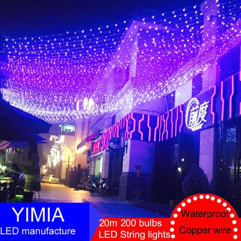 20m 200 LED String Fairy Lights New Year Christmas Lights