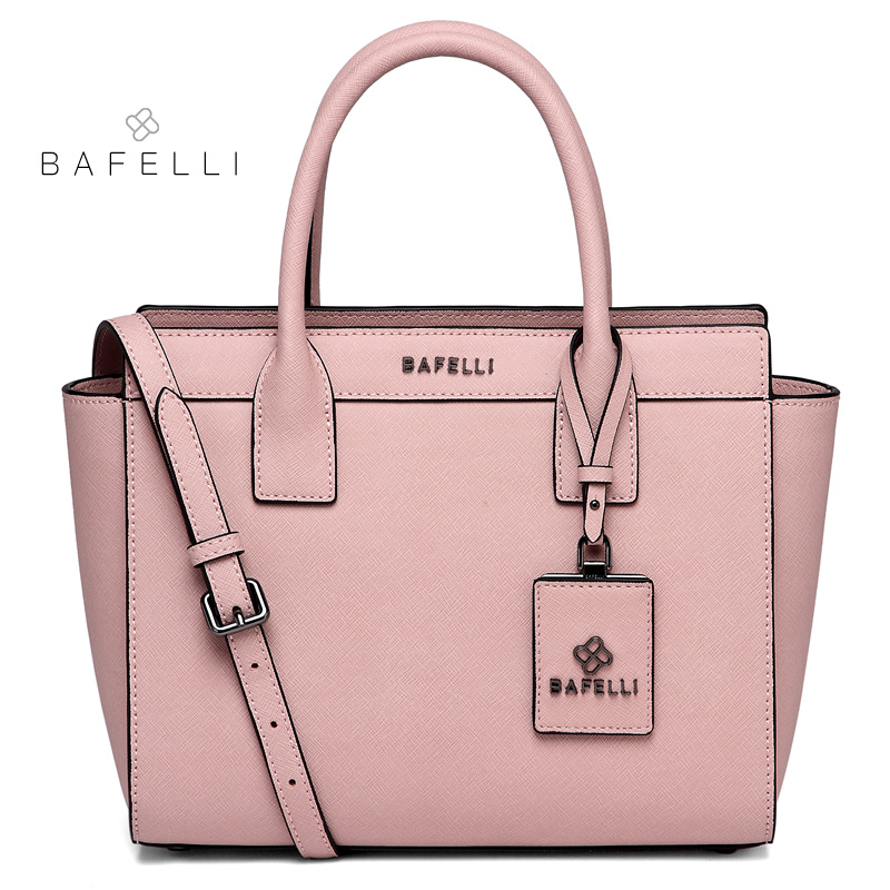 BAFELLI women shoulder bag split leather trapeze large capacity bolsos mujer luxury handbags women bags designer messenger bag bafelli women shoulder bag split leather chains for women crossbody bag bolsos mujer mint green pink womens messenger bag