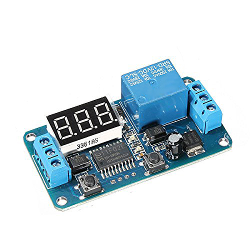 DC 12V LED Display Digital Delay Timer Control Switch Module PLC Automation 12v led display digital programmable timer timing relay switch module stable performance self lock board