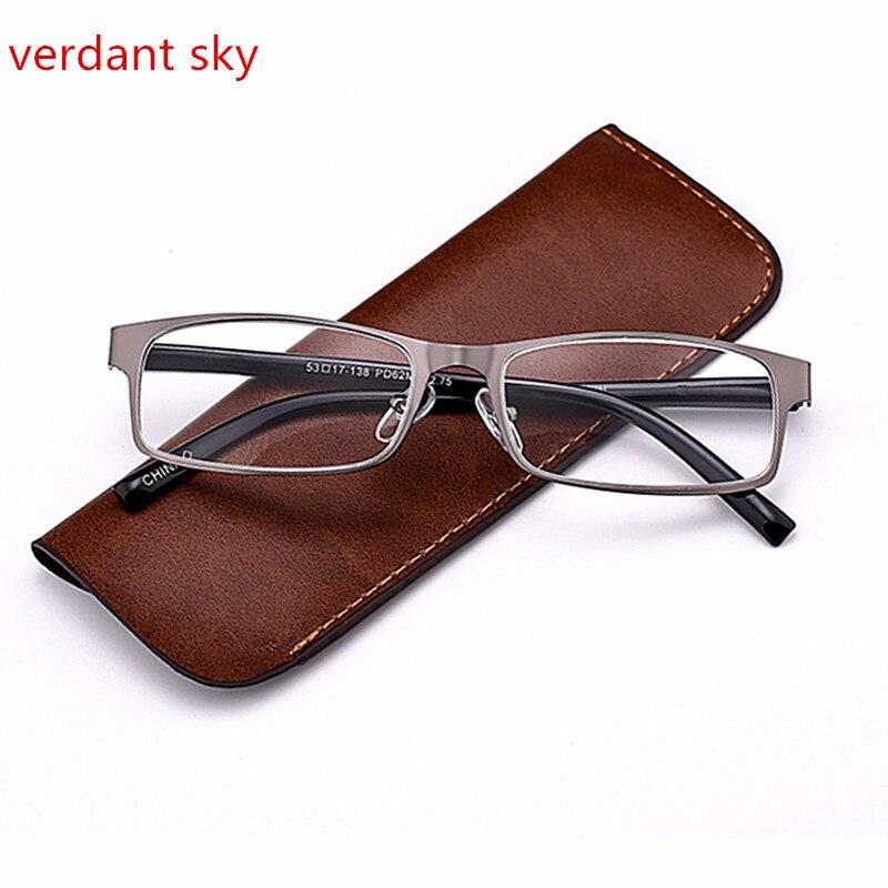 2017 Brand High-end Business Reading Glasses Men Stainless Steel PD62 Glasses Ochki 1.0t3.5 Degree Gafas De Lectura
