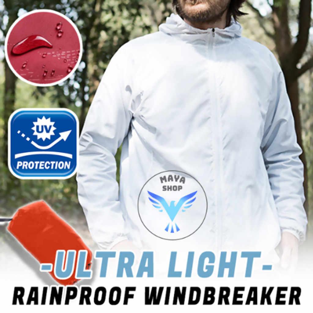 Мужские повседневные куртки ультра-легкая ветровка с длинными рукавами Ультралегкая непромокаемая ветровка Солнцезащитная одежда Прямая поставка May30