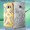 Armadura de aluminio thor caso para samsung galaxy s7/s7 edge/s7 borde + Cubierta de la Caja El Flash Iron Man Bolsa de Teléfono Shell Protector de La Piel