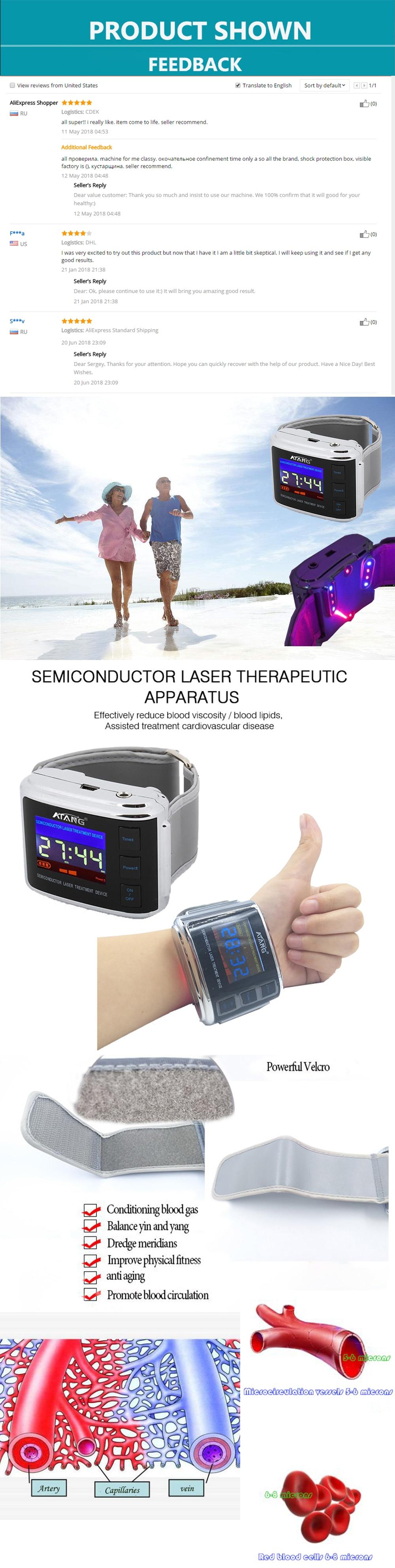 bio quantum energy red light laser treatment laser watch with red light  laser +lblue LED light wristwatch led physical apparatus