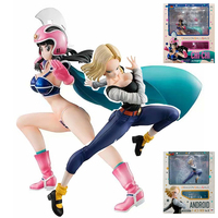 20cm 2 Type Dragon Ball ANDROID NO.18 Version 4 Fighting Gals Chi-Chi Armor Action Figure Collection Toys for Gift