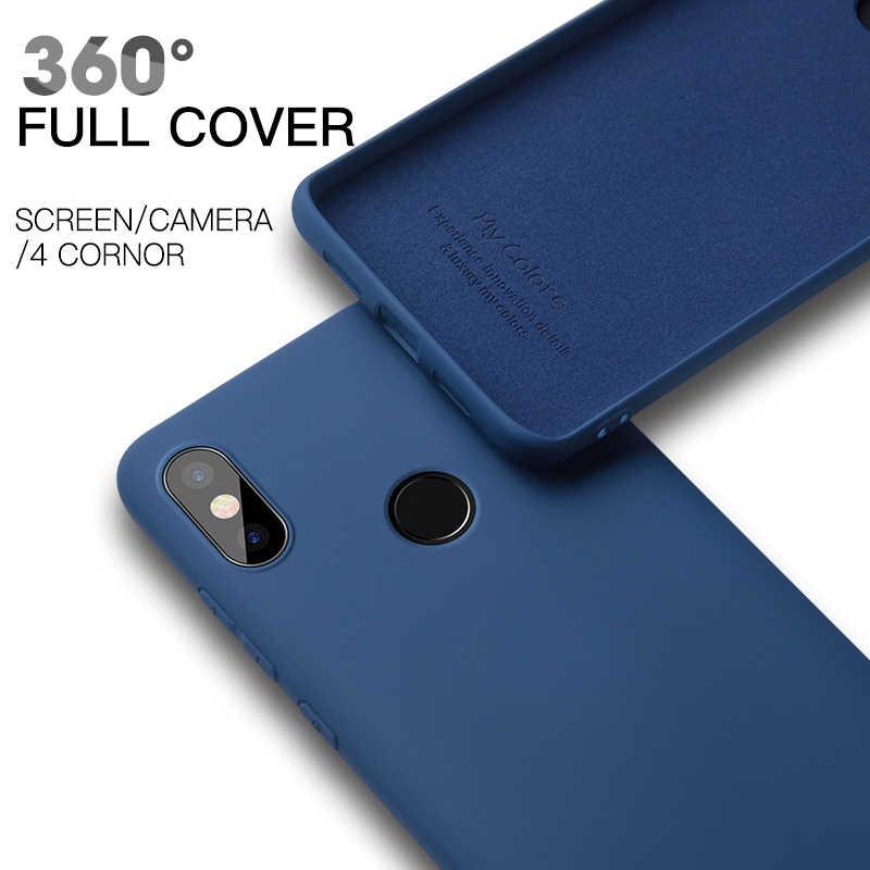 Coque en silicone liquide Ultra mince pour Xiao mi 8 lite SE mi 9 mi 6 mi 8 9 A2 6X mi x 2 2S mi x3 Play Coque arrière souple en TPU pour téléphone