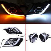 2 Pcs LED Daytime Running DRL Turn Signal For Mazda3 BM Axela Hatchback 2013 2016 Pre