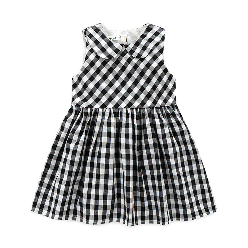 Popular Black and White Plaid Toddler Dress-Buy Cheap Black and ...