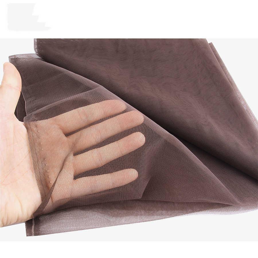 AliLeader 1/4 Yard yumuşak İsviçre dantel Net dantel yapmak için peruk peruk kapatma vakıf Hairnet aksesuarları dokuma araçları saç Net