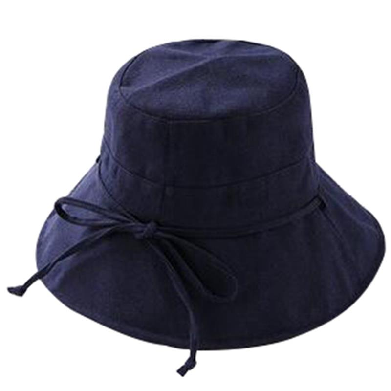 FashionSummer Cloth Cap Pure Sunshade Cap Ladies Spring And Summer Travel Fashion Pot Cap Sunscreen Foldable Fisherman Cap(China)