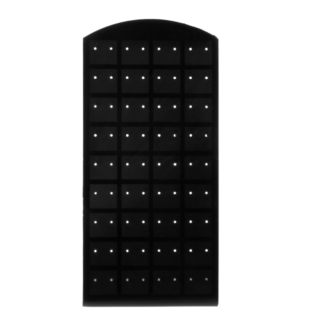 72 Holes Plastic Earring Ear Stud Jewelry Display Rack Stand Organizer Holder