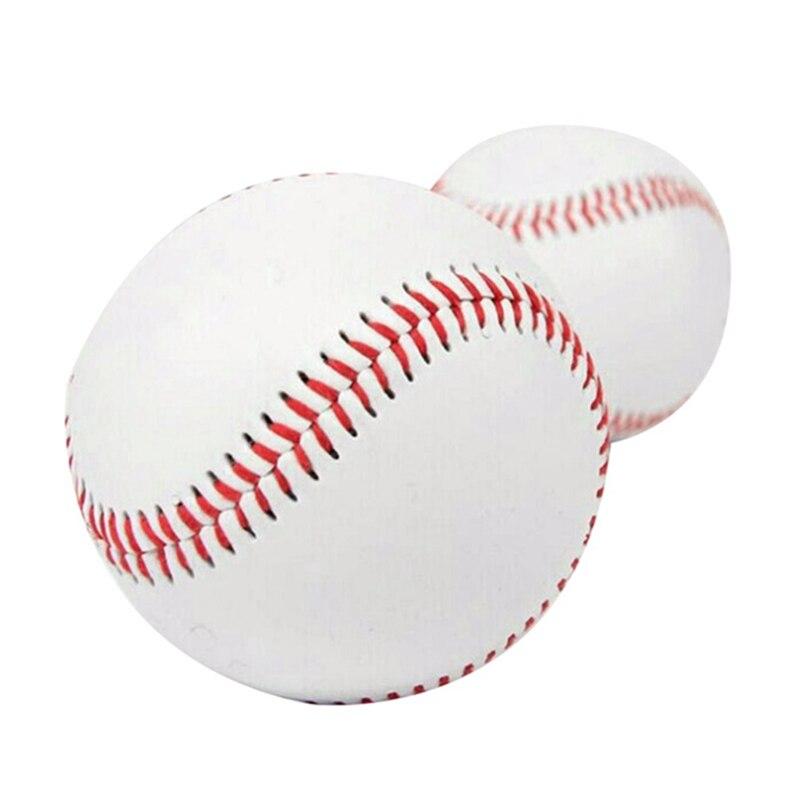"""10 Inches 9"""" Handmade Baseballs PVC Upper Rubber Inner Soft Baseball Balls Softball Ball Training Exercise Baseball Balls"""