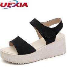 Women Shoes 2017 Summer New Open Toe Fish Head Fashion Sexy High Heels Platform Peep-toe Increased Wedge Sandals Gladiator Mujer