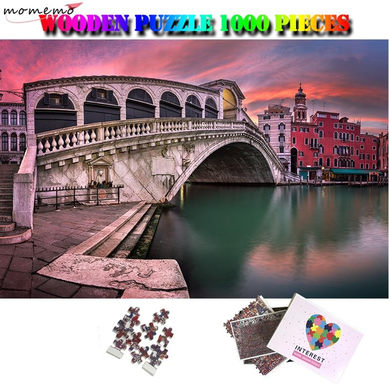 MOMEMO beau paysage adulte Puzzle 1000 pièces en bois italie ville paysage Puzzle Puzzle adultes 1000 pièces Puzzle jeux jouets