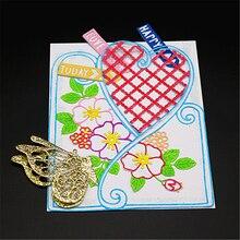 AZSG Flower Leaf Heart-shape Cutting Dies For DIY Scrapbooking Dies Decoretive Embossing Stencial DIY Decoative Cards Die Cutter
