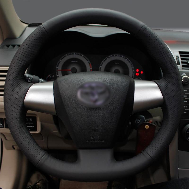 BANNIS crna umjetna koža DIY ručno ušivenim upravljač poklopac za - Dodaci za unutrašnjost automobila - Foto 4