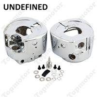 Motorbike Parts Accessories Chrome Handlebar Switch Housing Cover For Harley Softail Deluxe Rocker Heritage UNDEFINED