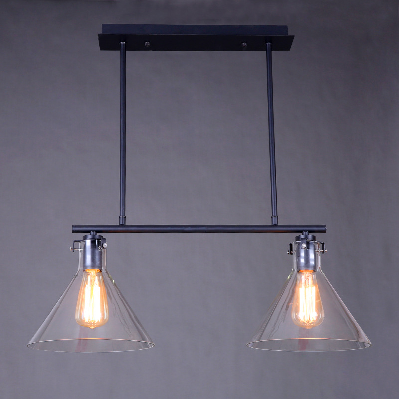 Hot Sale Nordic American Retro Personality Originality Simple Cafe Restaurant Bedroom Bar Counter Glass Decor Pendant Lamps