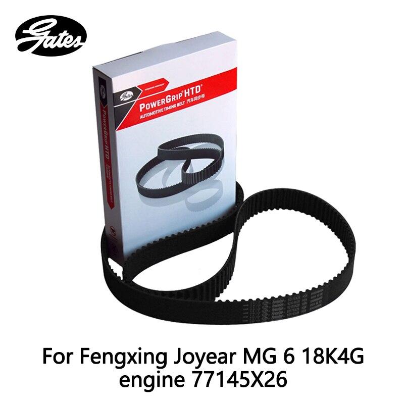 Courroie de distribution Gates pour Fengxing Joyear MG 6 18K4G moteur ROEWE 550 1.8 (2008-) 750 1.8 T (2007-) 77145X26 pièce auto