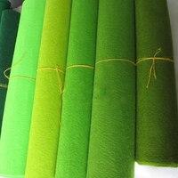 3mm Green Felt Fabric Polyester handmade diy craft fieltro christmas felt Material Fabric feutrine fiori filz Width 90cm by Yard