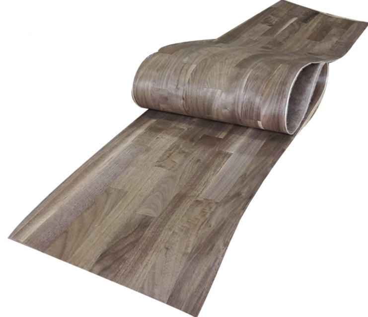 L:2.5Meters Width:40cm Thickness:0.25mm Black walnut spliced wood veneer furniture decorative veneer цена