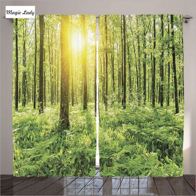 Cortinas cocina ventana Woodland decor Collection bosque primavera ...