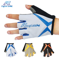 AT Brand M XXL Sport Cycling Gloves 3 Color Selection With Reflective Strip Bicycle Gloves Half