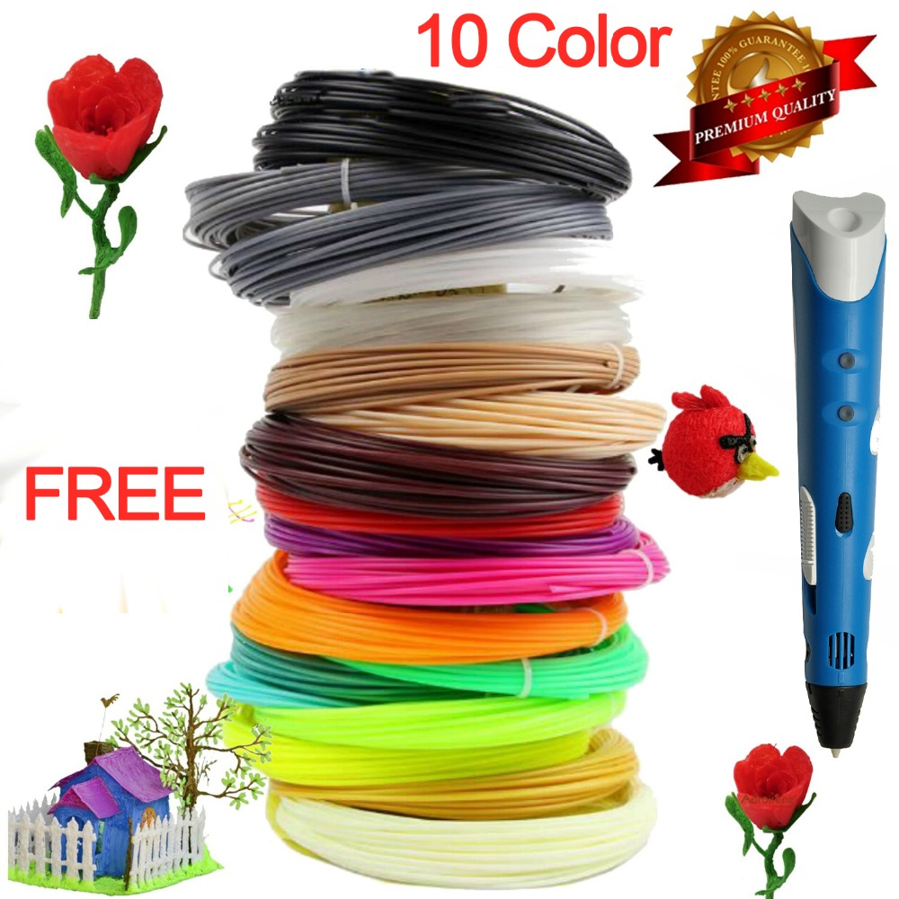 3d drawing printer IntelligenceToy Creative 3D Pen EU 10pcs 1 75mm ABS PLA best Gift For