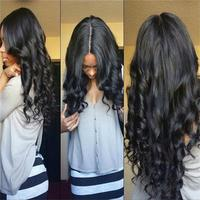 8A Grade Unprocessed Brazilian Front Lace Human Hair Wig Loose Wave Virgin Hair Lace Front Wig With Baby Hair For Black Women