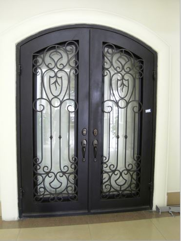 Custom Design Forged Wrought Iron Front Doors Iron Doors Iron Entry Doors  H Wid2