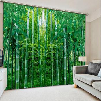 Personnaliser rideau insonorisé bambou forêt rideau pour le salon chambre filles chambre haute qualité rideau
