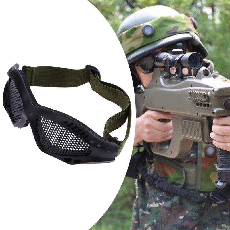 Outdoor Tactical Eye Protective Glasses Airsoft Military Training Paintball Game Safety Goggles Anti Fog Glasses Metal Mesh