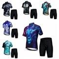 Conjuntos de Jersey de ciclismo para hombre Mtb ropa de bicicleta Primavera Verano manga corta bicicleta de montaña ropa deportiva León Lobo transpirable