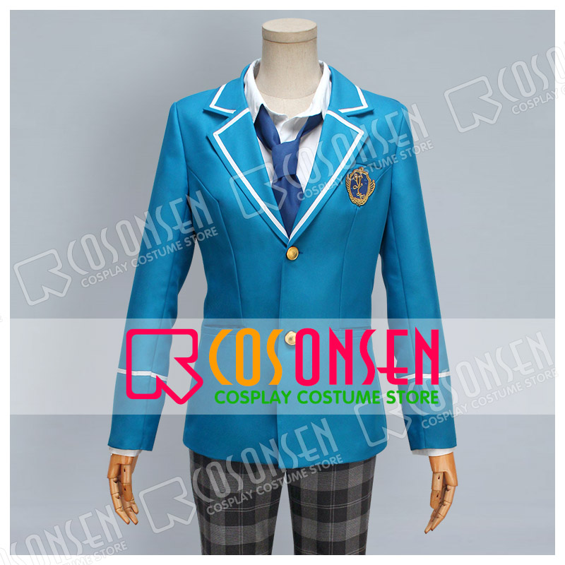 COSPLAYONSEN Ensemble Stars Yumenosaki Private Academy Blue School Uniform Cosplay Costume