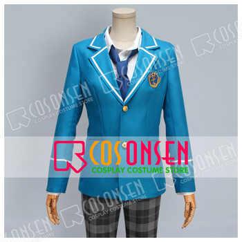 COSPLAYONSEN Ensemble Stars Yumenosaki Private Academy Blue School Uniform Cosplay Costume - Category 🛒 All Category
