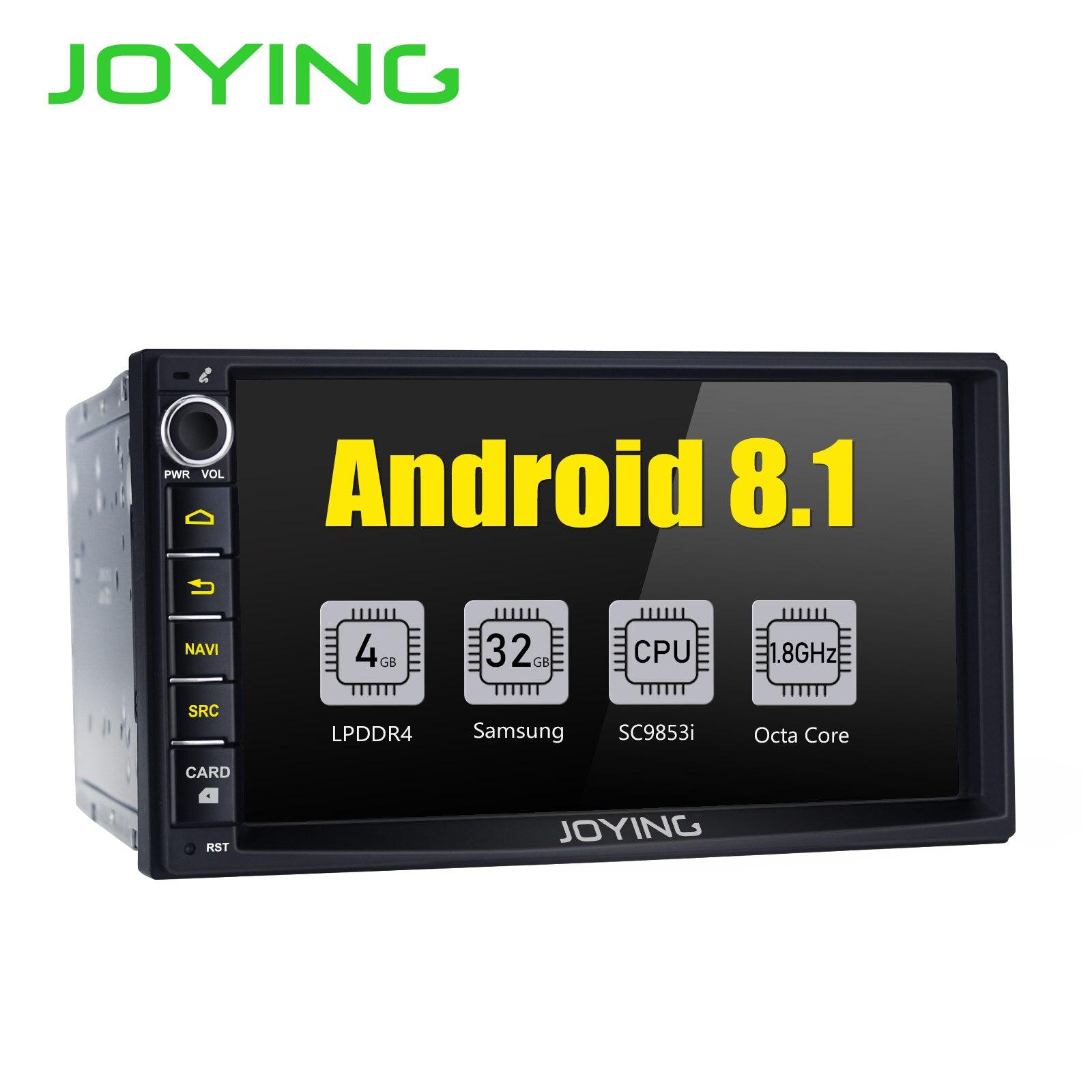 JOYING Últimas 2 Din 7 ''Android 8.1 autoradio Carro HD unidade de cabeça GPS Rádio estéreo com Intel core Octa 4G Carplay Android DSP auto