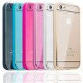 Casco de alumínio pc case plástico para apple iphone 5c 5c luxo metal frame acrílico fundas capa de ouro