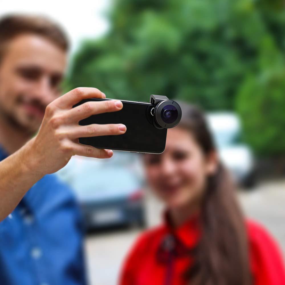 5 в 1 объектив для камеры телефона Комплект HD 4K широкоугольный телескоп Супер Рыбий глаз Макро телефон линзы для samsung Xiaomi huawei объектив - 5